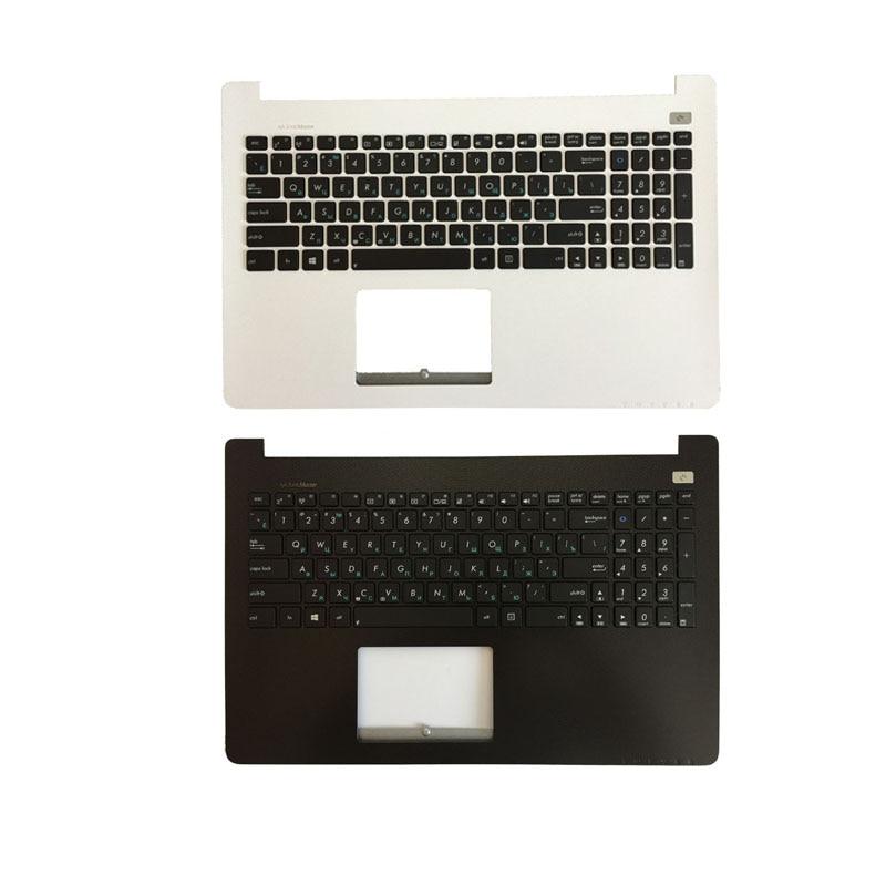 لوحة مفاتيح روسية مع مسند للمعصم العلوي لـ ASUS X502 X502C X502A X502U X502EI X502X X502CA RU white C shell