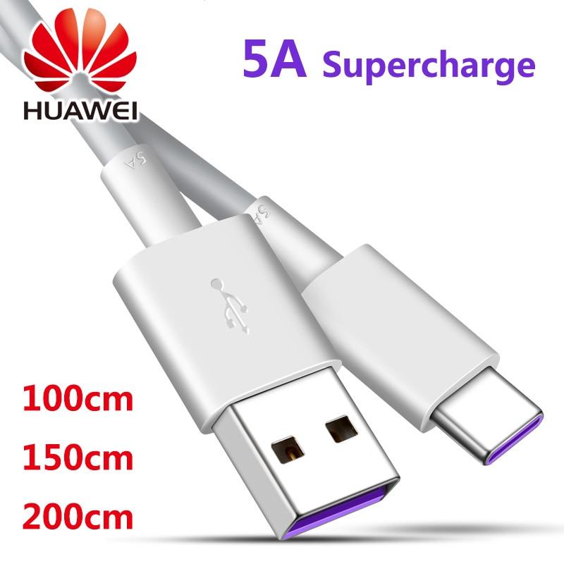 1/1. 5/2 м оригинальный Супер зарядный кабель huawei 5A для huawei P20/10/9/pro supercharge honor view 20 V20 V10 V9 Magic 2 note10 8