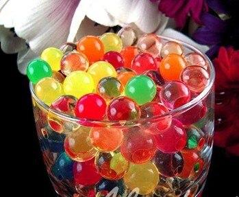 11 cores Magia Planta de Cristal Lama Do Solo Geléia Água cristal absorvendo, polímero, solo úmido MED Pérola de Água Contas