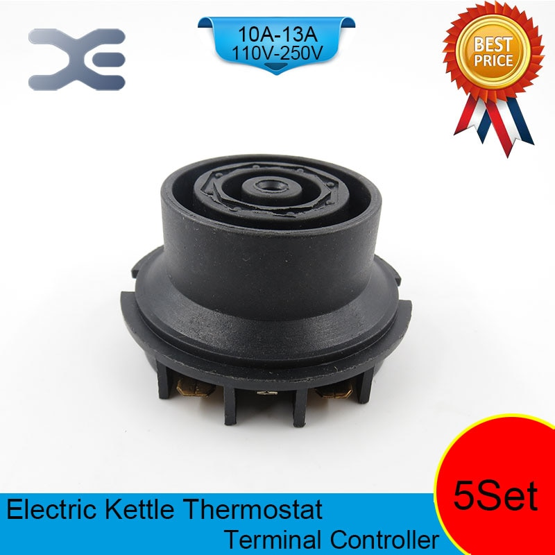 5 компл./лот T125 13A 110-250V NC терминальный контроллер Новый чайник термостат неиспользованные запасные части для электрочайника EK1707