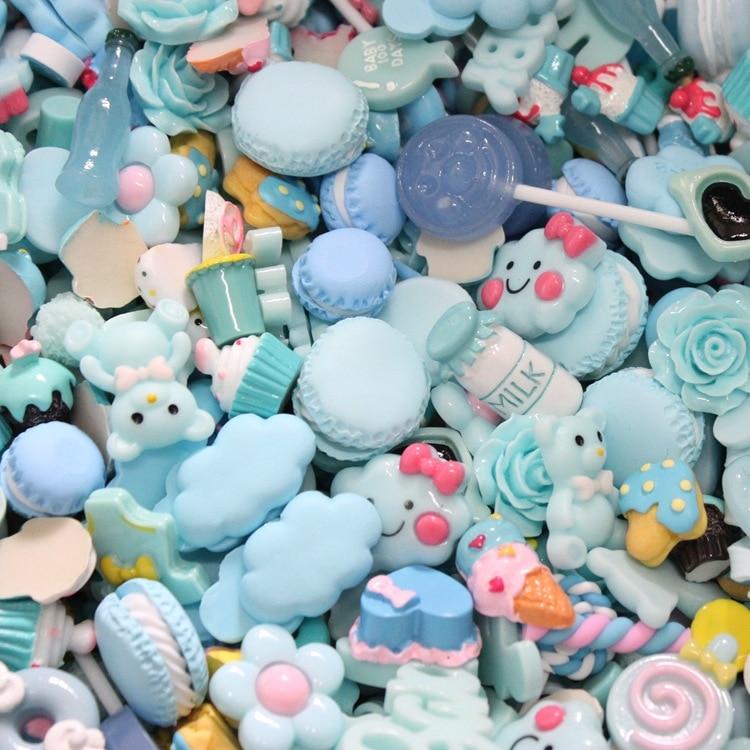 2019 New DIY Craft Supplies Cute Carton Candy Flower Christmas Flat Back Planar Resins Manualidades Resin Craft Mix 10pcs/lot