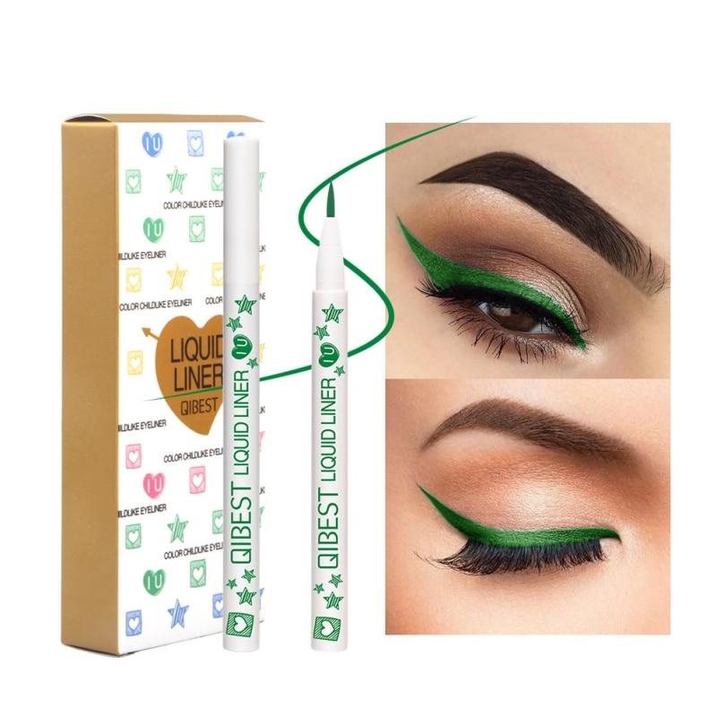 Nuevo delineador de ojos de secado rápido líquido delineador de ojos de larga duración 12 colores impermeables maquillaje de ojos