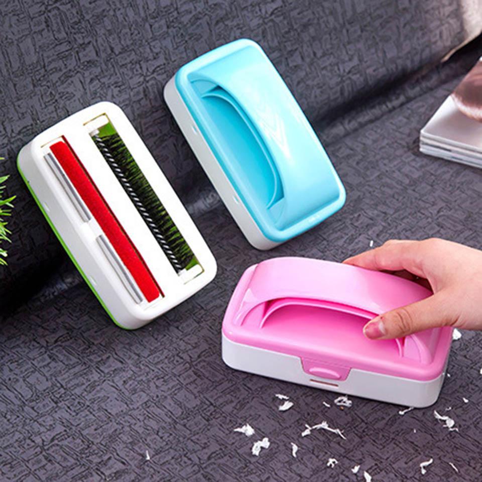 Cepillo de mano de plástico para mesa de alfombra, cepillo para migas, sofá cama, ropa, polvo, colector limpiador de pelo, rodillo, pelusa, caída de polvo