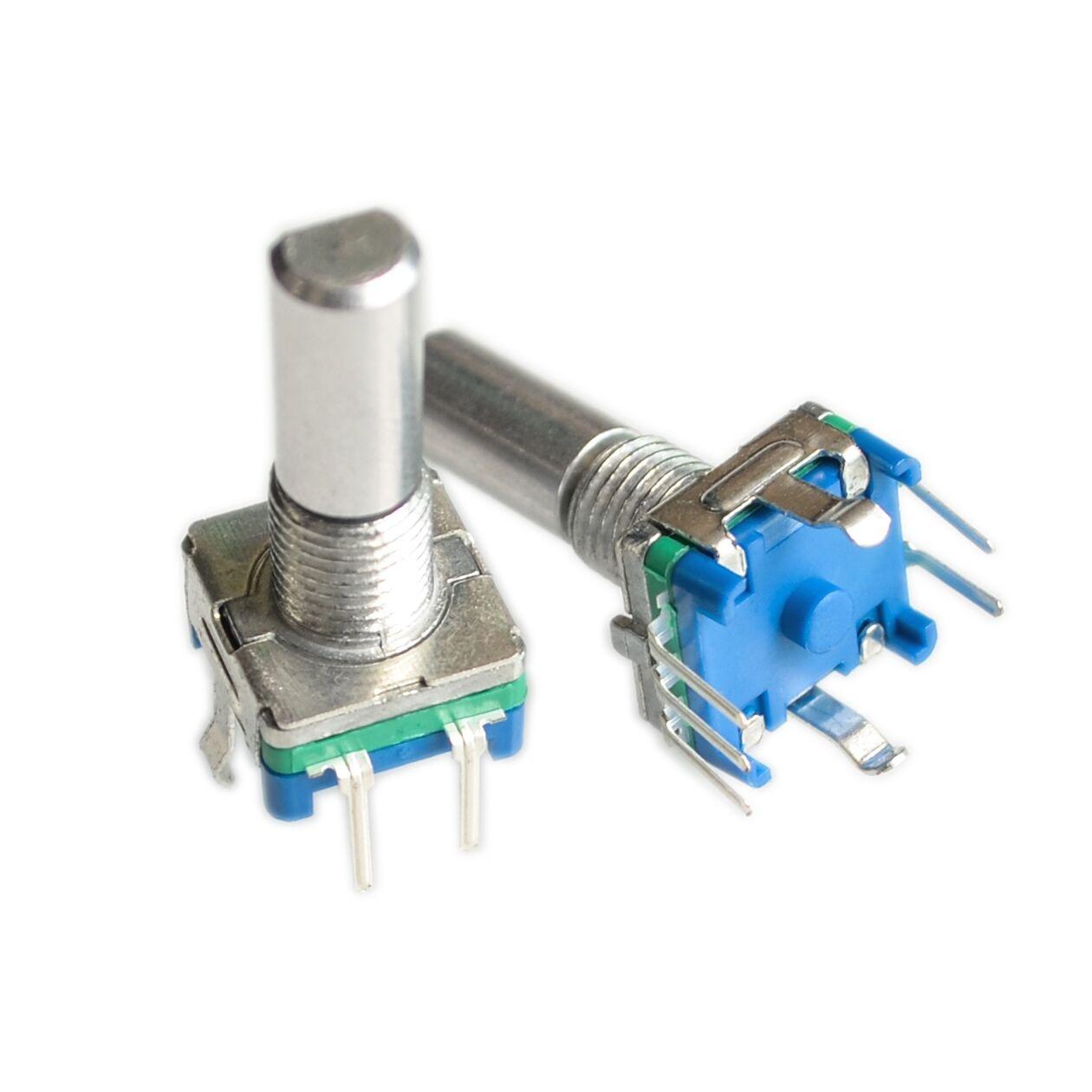 20 pçs/lote original, codificador rotativo, interruptor de código/ec11/potenciômetro digital de áudio, com interruptor, 5pin, comprimento do punho 20mm