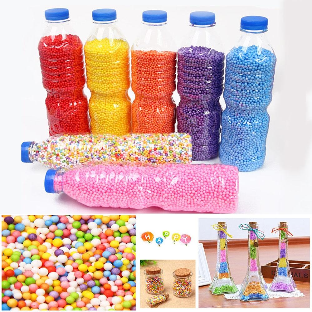 Шарики для снежной грязи, 500 мл/флакон, аксессуары для слайма, маленькие шарики из пены для наполнителя, принадлежности для рукоделия, 2-4 мм