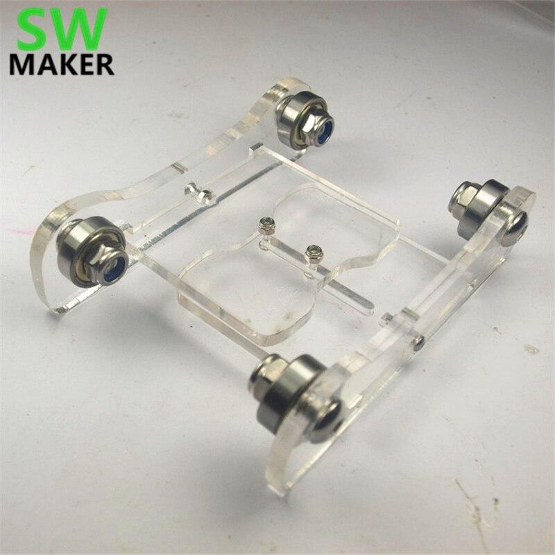 Reprap impresora 3D Delta Kossel k800 DIY arylic Printrbot posavasos ajustable 3D filamento de la impresora titular Spool titular