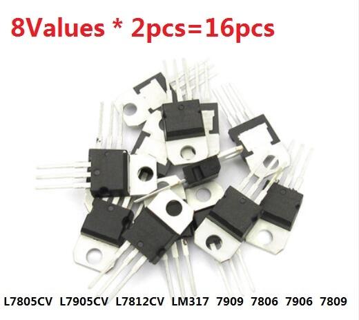Набор транзисторов 14 значений * 1 шт. = 14 шт. L7805CV L7806 L7809 L7808 L7812CV L7815 L7824 L7905 L7906 L7909 L7912 L7915 LM317 набор
