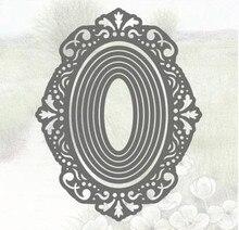 Макди пейзажи овалы рамка металлические режущие штампы высечки пресс-формы для скрапбукинга бумаги ремесло Нож Форма лезвие удар трафарет штампы 2019