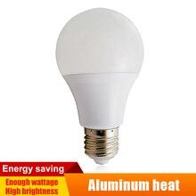 E27/B22 21W/18W/15W/12W/9W/6W lampe à led 100-240v puissance réelle en aluminium panneau ampoule CoolWarm lumière blanche domestique LED Globe