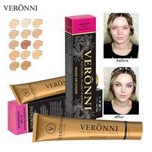VERONNI 14 couleurs petit tuyau dor liquide correcteur imperméable maquillage fond de teint crème contour des yeux couverture pour toutes les couleurs de peau TSLM1