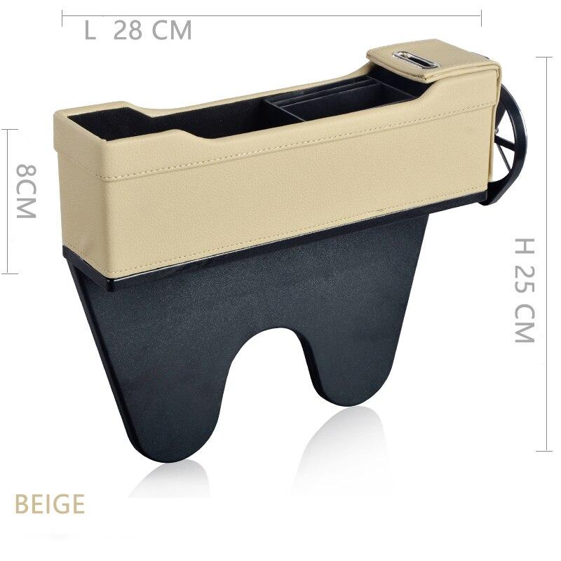Console Side Pocket Car Organizer Car Seat gap Filler storage box Bottle Cup Holder Coin Collector Car Interior Accessories