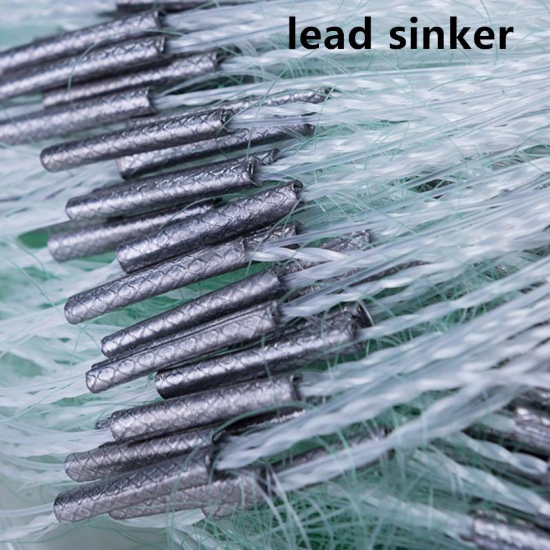 strong nylon net 3layer fishing net depth 1.5m-3.0m gill net length 80m mesh 20mm-75mm fishing network rede de pesca outdoor enlarge