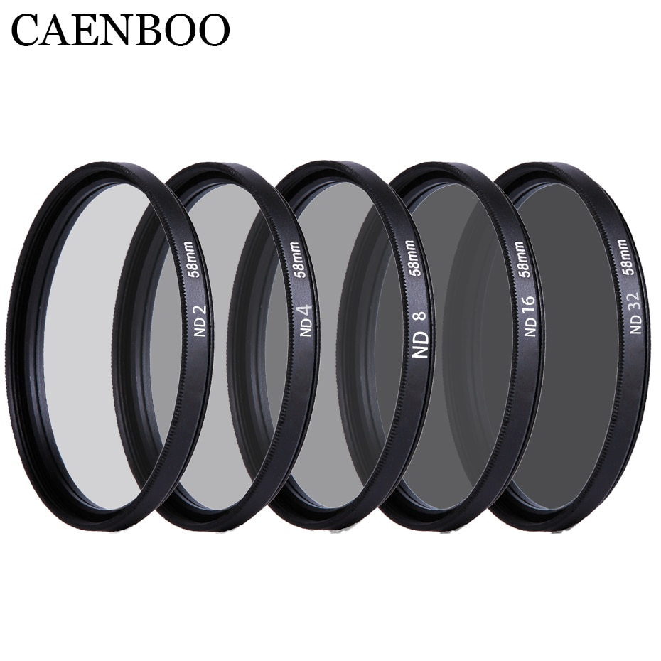 Фильтр для объектива CAENBOO 37 40,5 43 46 49 52 55 58 62 67 72 77 82 мм, ND2 4 8 16 32, защитная пленка для объектива нейтральной плотности