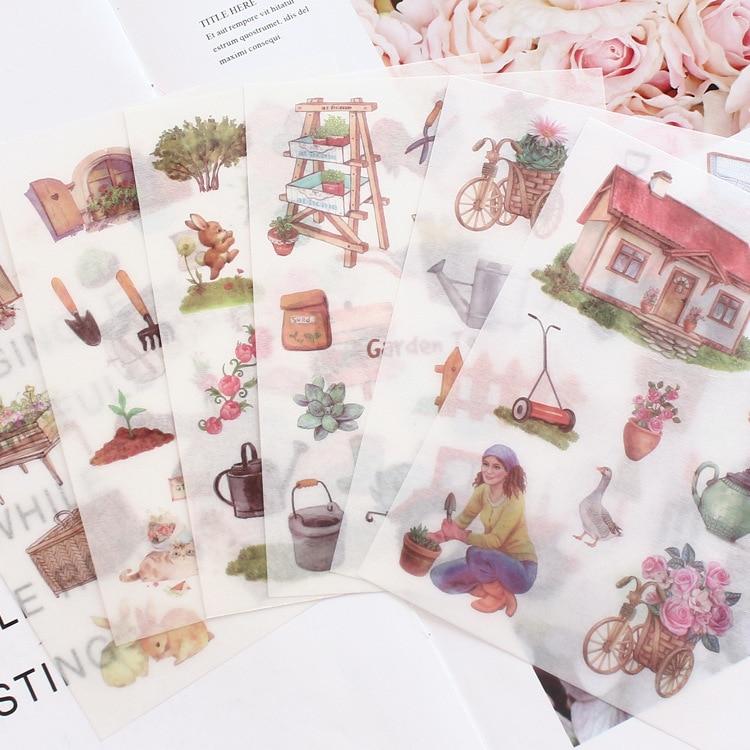 6-fogli-pacco-adesivi-decorativi-per-arti-da-giardinaggio-scrapbooking-stick-etichetta-diario-cartoleria-album-adesivi-per-diario