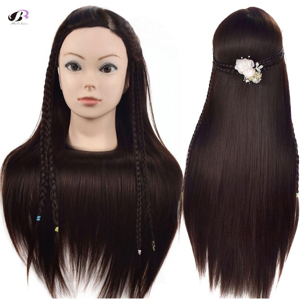Bolihair 26 inch Training Head Mannequin Brown Hair For Hairdressing Training Head Dummy Heads Mannequin Training Head for Sale training