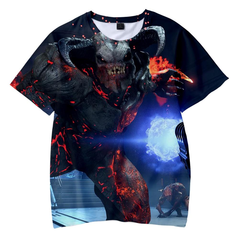 Juego 3D Doom Eternal impreso niños verano Camisetas manga corta Camisetas 2019 Casual Streetwear niños verano Camisetas de talla grande
