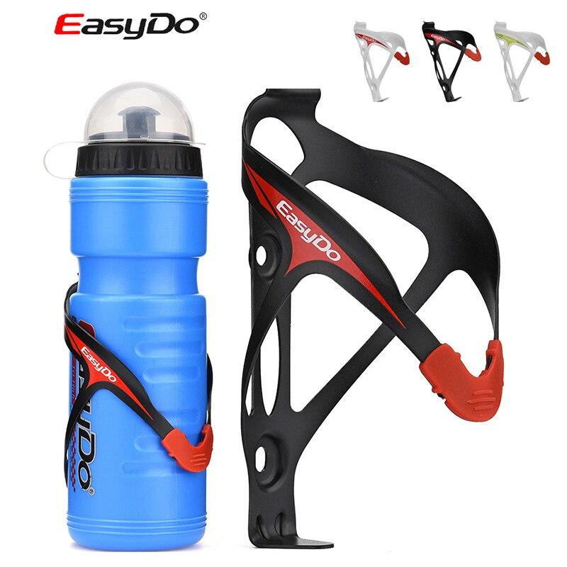 Portabotellas ligero Easydo 24g, jaula de aluminio moldeada integralmente + soporte antideslizante para botella para agua y bebidas MTB Road Bike