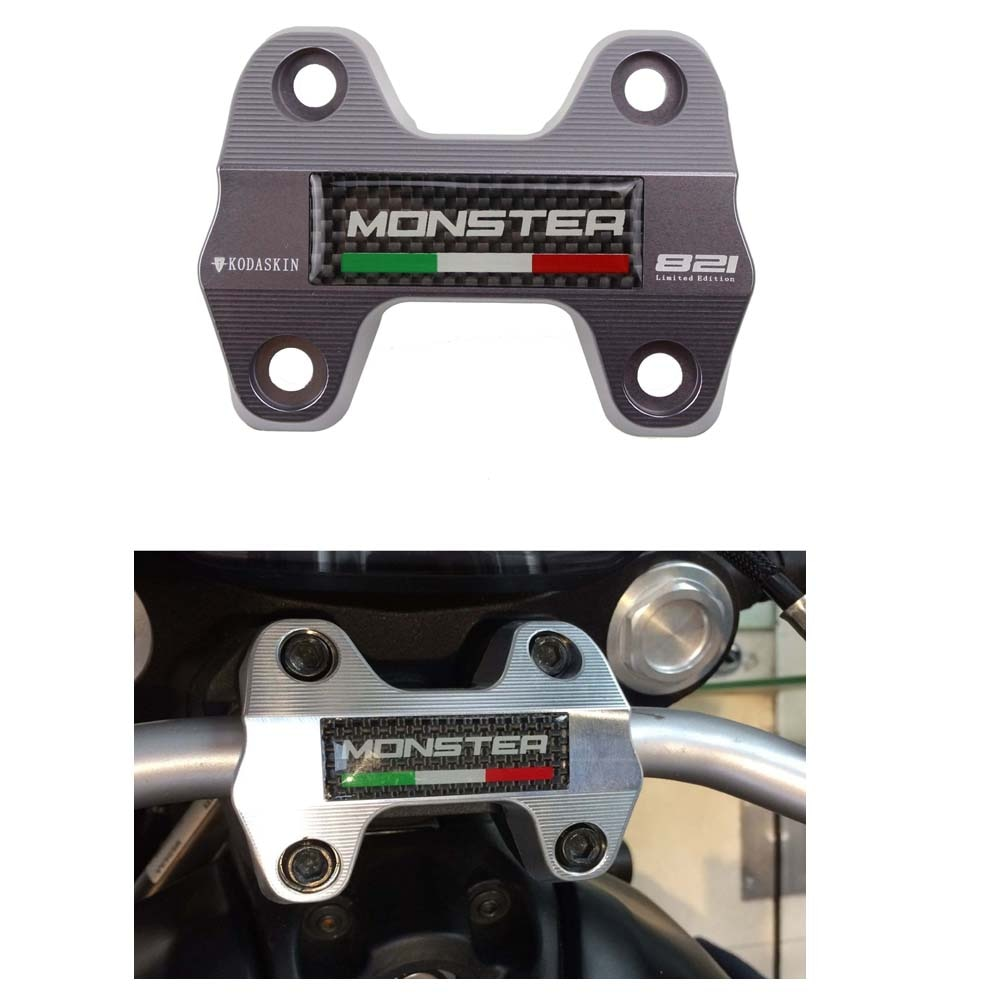 KODASKIN Lenker Clamp Carbon emblem für Ducati Monster 821