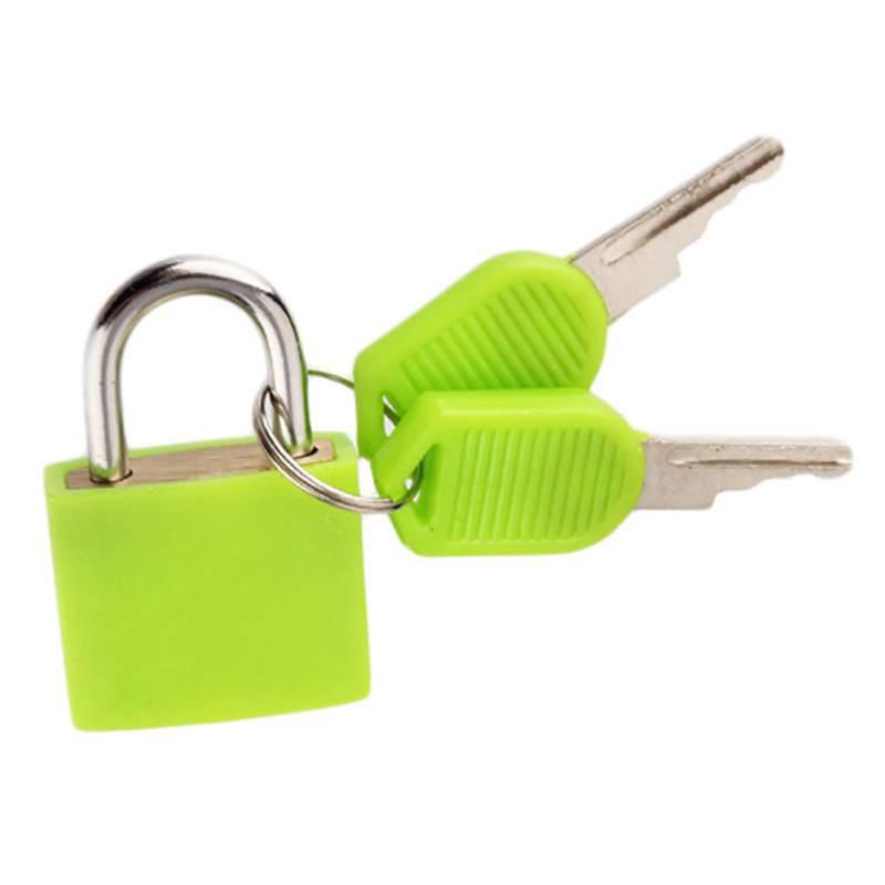 Colorful Plastic Case Brass Padlock Travel Luggage  Lock