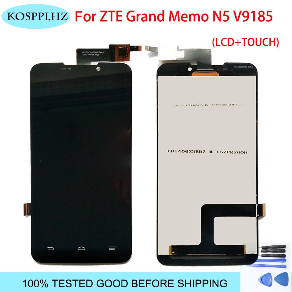 5,7 pulgadas 1280x720p para ZTE Grand Memo N5 N9520 V9815 n 5 v 9185 pantalla LCD con montaje de digitalizador con pantalla táctil de reemplazo