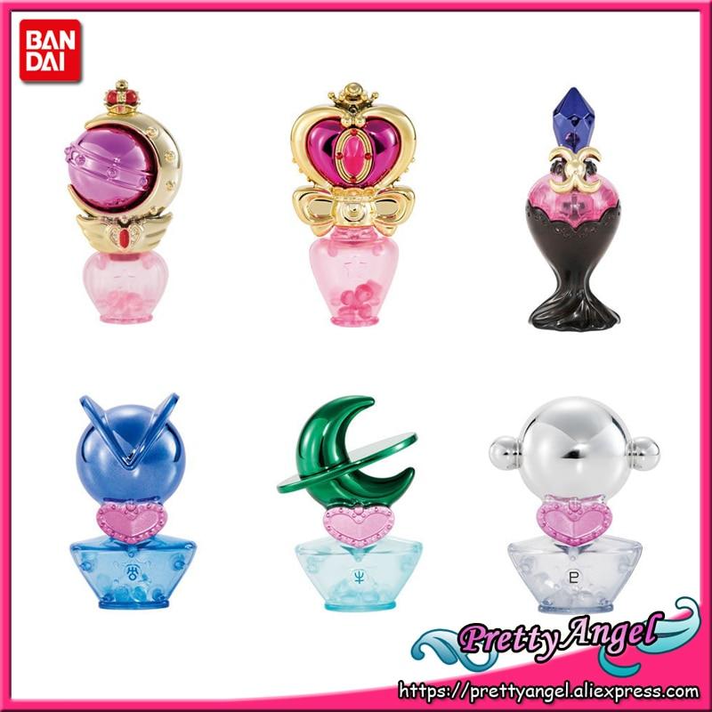 PrettyAngel-Original y genuino Bandai 25 aniversario prisma marinero Luna Perfume botella Vol.2 conjunto de Gashapon (6 uds) Mini figuras