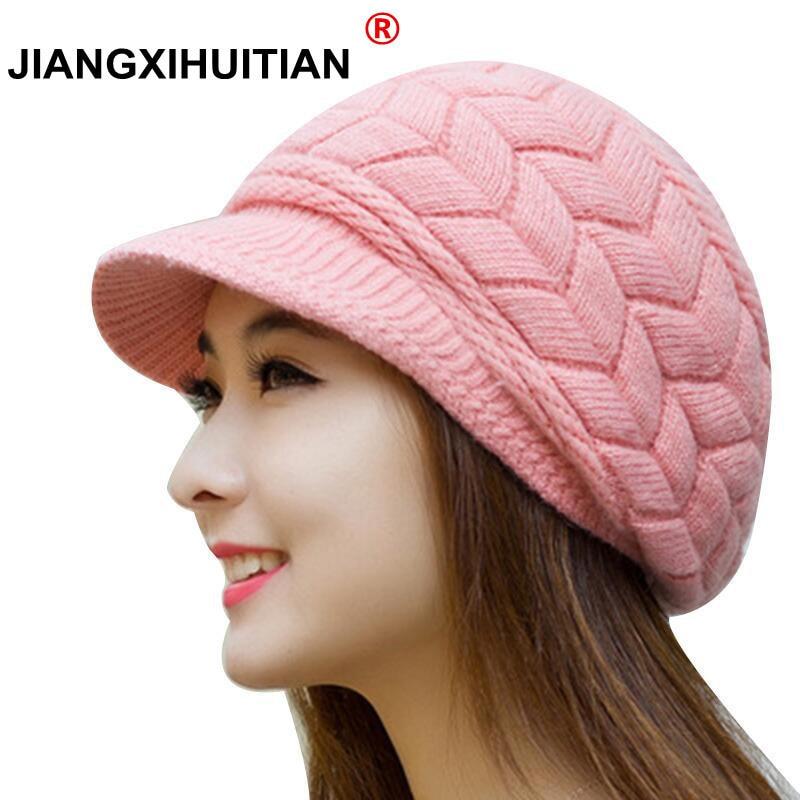 Winter Beanies Knit Women's Hat Winter Hats For Women Ladies Beanie Girls Skullies Caps Bonnet Femme