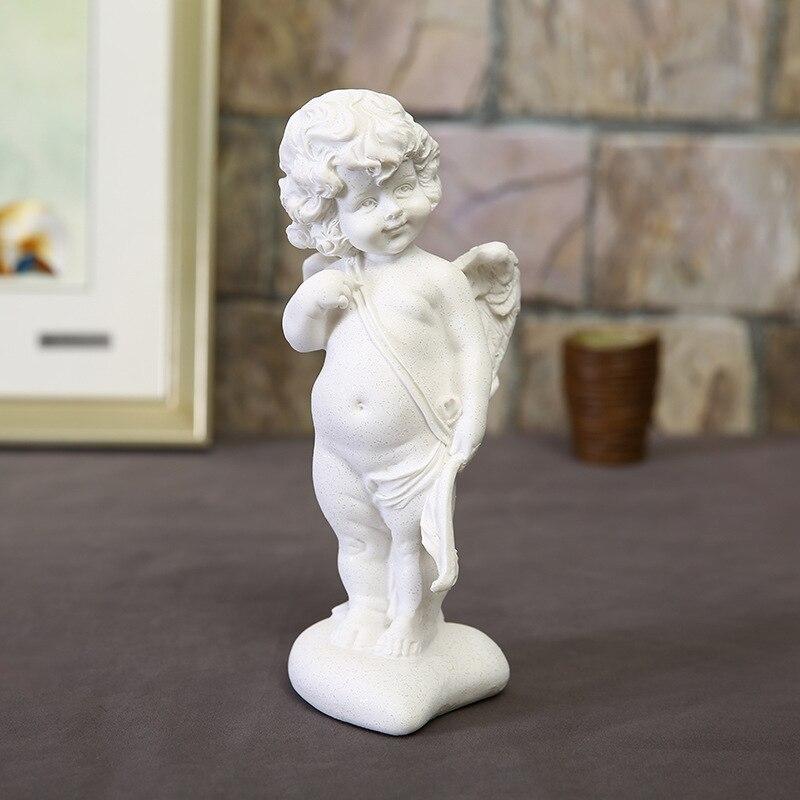 Decoração de Casa Criativo Europeu Branco Areia Anjo Amor Arenito Decoração Moda Desktop Resina Artesanato Casamento Decoratis