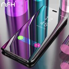 Clear View Spiegel Flip Telefoon Case voor Huawei P20 lite P30 Op Honor 7A Pro 8X9 10 lite 20 Y6 Y7 Y9 Y5 2018 P Smart Z 2019 Cover