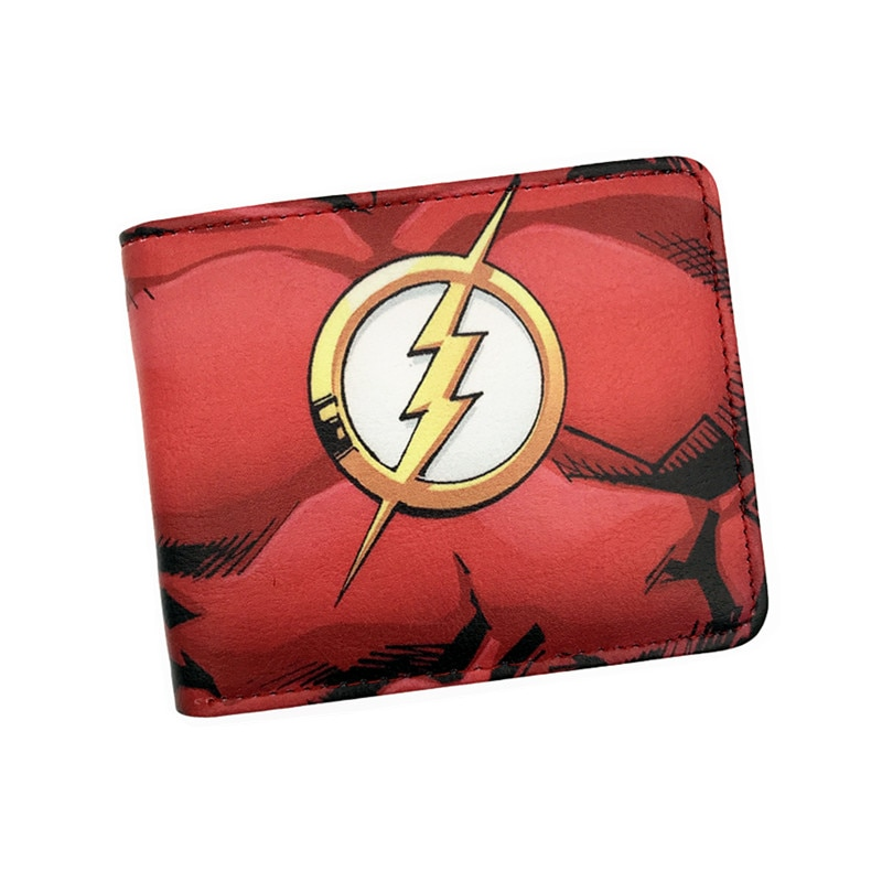 Кошелек с изображением Супермена и стрелы, женский короткий кошелек с отделением для карт, держатель для фотографий, кошелек с рисунком