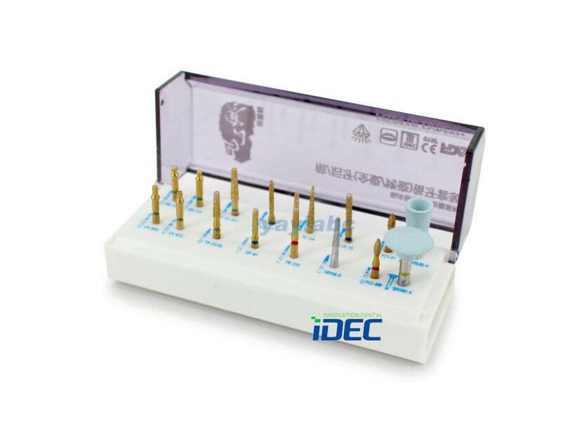 Kit de preparación de burs dentales cerámica posterior anterior corona de zirconia 16 piezas/KIT