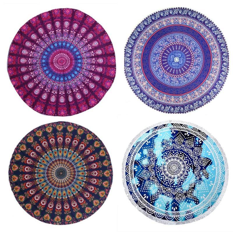 150x150 cm Boho Mandala impresión tapiz colgante de pared de playa manta de Picnic tapicería indio colchón de viaje arte de dormitorio