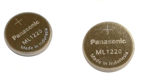 Batería nueva de 30 unids/lote para Panasonic ML1220 3V ML 1220 recargable CMOS RTC BIOS batería de botón de batería de reserva