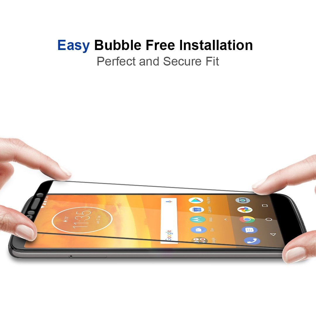 Nueva película frontal fácil de instalar cubierta completa colorido Protector de pantalla película de vidrio templado para Motorla MOTO E4 E5 M Z X PLUS PLAY