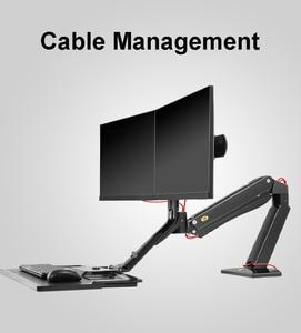 Image 4 - NB эргономичная компьютерная подставка для сидения, 22 27 дюймов, двойной экран, кронштейн для монитора, с клавиатурой, настольная подставка