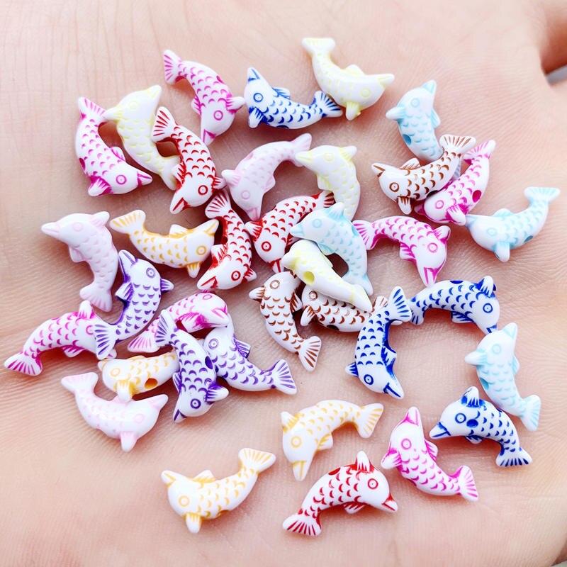 100 Uds. Apliques de diamantes de imitación de resina de sirena para mujer, pendientes de sirena de resina Multicolor, collar y pulsera, joyería de boda