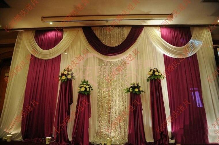 Boda 3m x 6m telón de fondo de lujo de la etapa de matrimonio con hermosa guirnalda telón de fondo de escenario de boda decoración
