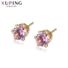 Xuping Simple élégant boucles doreilles clous avec zircon cubique synthétique bijoux pour les femmes saint valentin cadeaux S28-21782