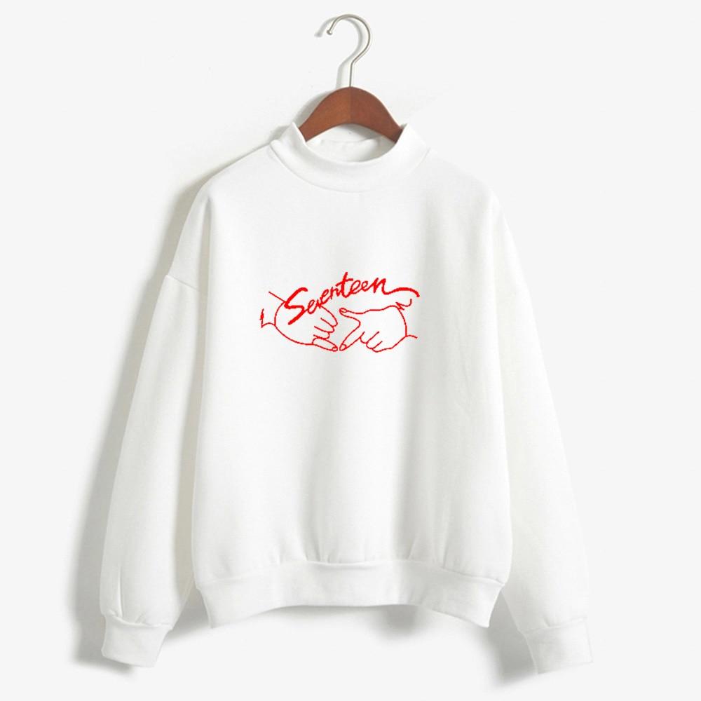 K-pop Seventeen Sudadera con capucha Tops mujer ropa de invierno Harajuku Kawaii Oversized Kpop Seventeen sudaderas colegiala