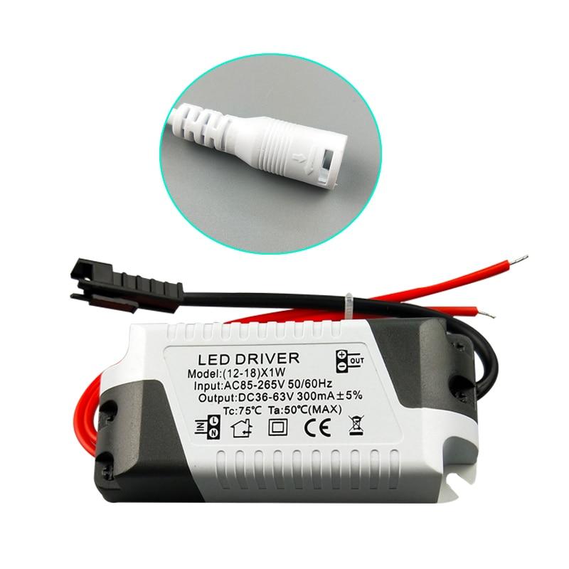 Controlador LED 3 W-36 W 85-265V 300 MA transformador de luz adaptador de fuente de alimentación de corriente constante para iluminación de tira de lámparas Led