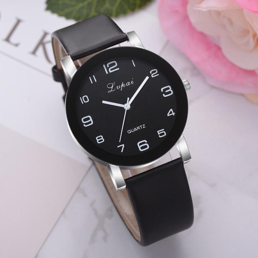 Fashion 2019 Lvpai Women's Casual Quartz Leather Band Watch Analog Wrist Watch Valentine Gift Crysta