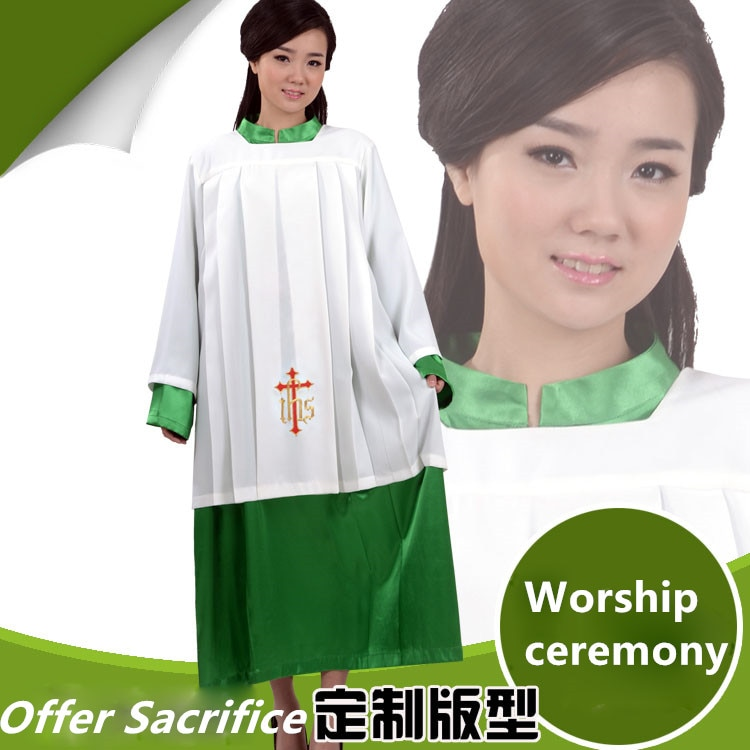 La Fede, vestido de sacrificio de Iglesia Católica Romana, batas vintage de Iglesia, vestido para coro, vestido de chiesa cattolica, vestido de sacrificio
