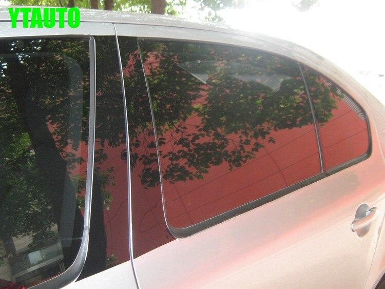 Embellecedores de ventana media de coche B C pillar sticker para Skoda Octavia A5 A7, 6 unids/set, accesorios de decoración exterior de coche