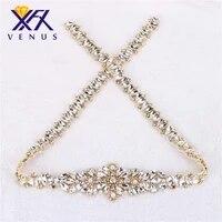 30pcshandmade long wedding bridal belt rhinestone applique with pearls crystal iron on sewn shiny for garment diy fashion