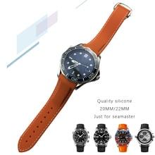 19mm 20mm 21mm 22mm bracelet de montre en caoutchouc Silicone extrémité incurvée pour Omega couturier 300 AT150 Seiko Speedmaster longines