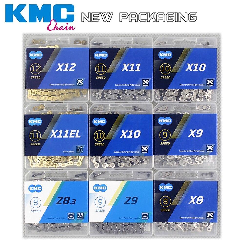 Nuevo KMC cadena de bicicleta X8 X9 X10 X11 X12 bicicleta cadena 11 velocidad MTB SRAM 8 9 10 11 12s de 116L