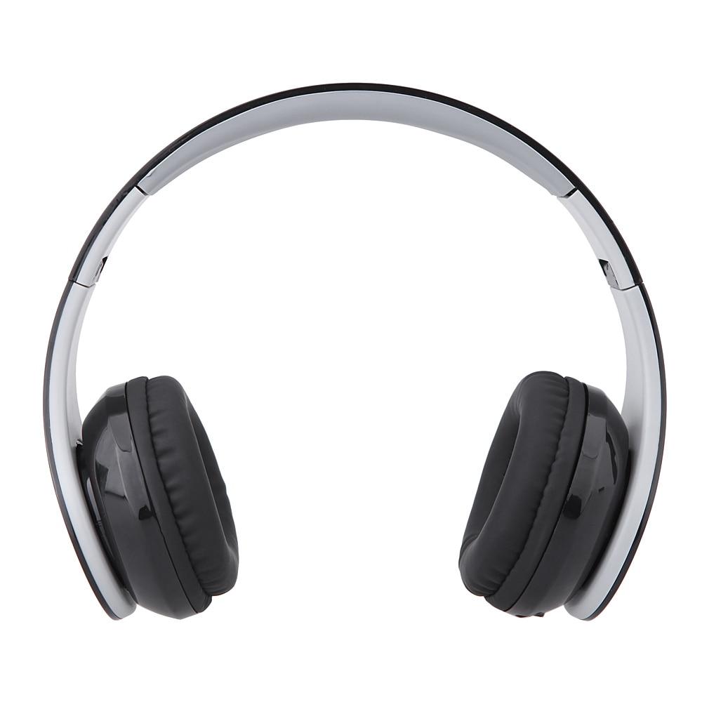 Auriculares plegables Bluetooth, 4 en 1 auriculares inalámbricos, auriculares estéreo con micrófono, compatible con conexión de dos teléfonos, Radio FM, tarjeta TF