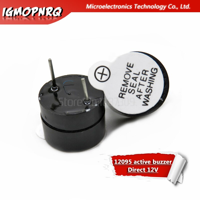 10pcs 12095 buzzer ativo Direto 12V longo voz 12 12*9.5MM de diâmetro MM rótulo preto