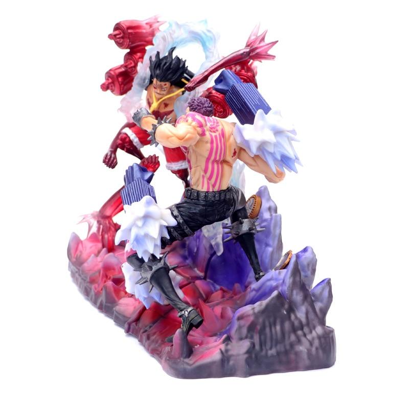 Anime One Piece Gear 4 Fourth Luffy VS Charlotte Katakuri GK PVC Action Figure Statue Collection Model Kids Toys Doll 26cm