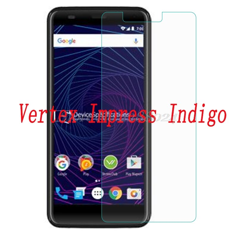 Smartphone 9H vidrio templado para Vertex Impress índigo vidrio a prueba de explosión película protectora funda protectora de pantalla teléfono
