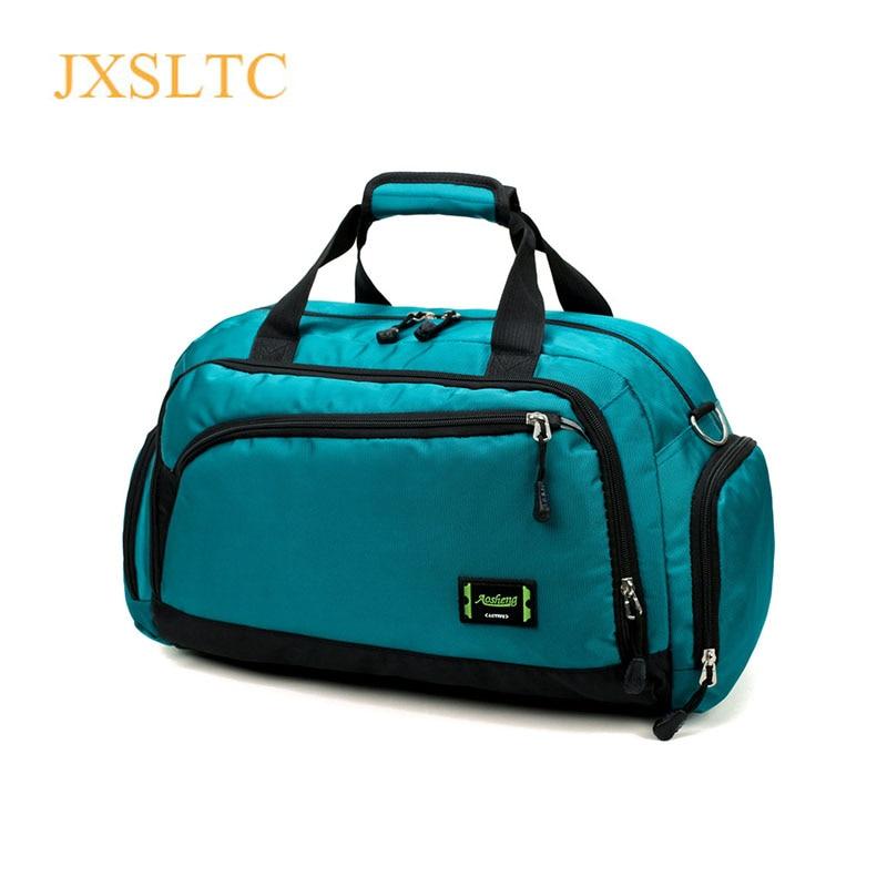 뜨거운 방수 나일론 여행 핸드백 남자 패션 주말 가방에 운반 빈티지 캐주얼 더플 숄더 가방 여성 밤새 가방